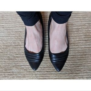 GIVENCHY Black Calf Leather Flats